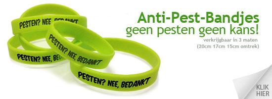 Anti-pest-armbandjes  Geef pesten geen kans!